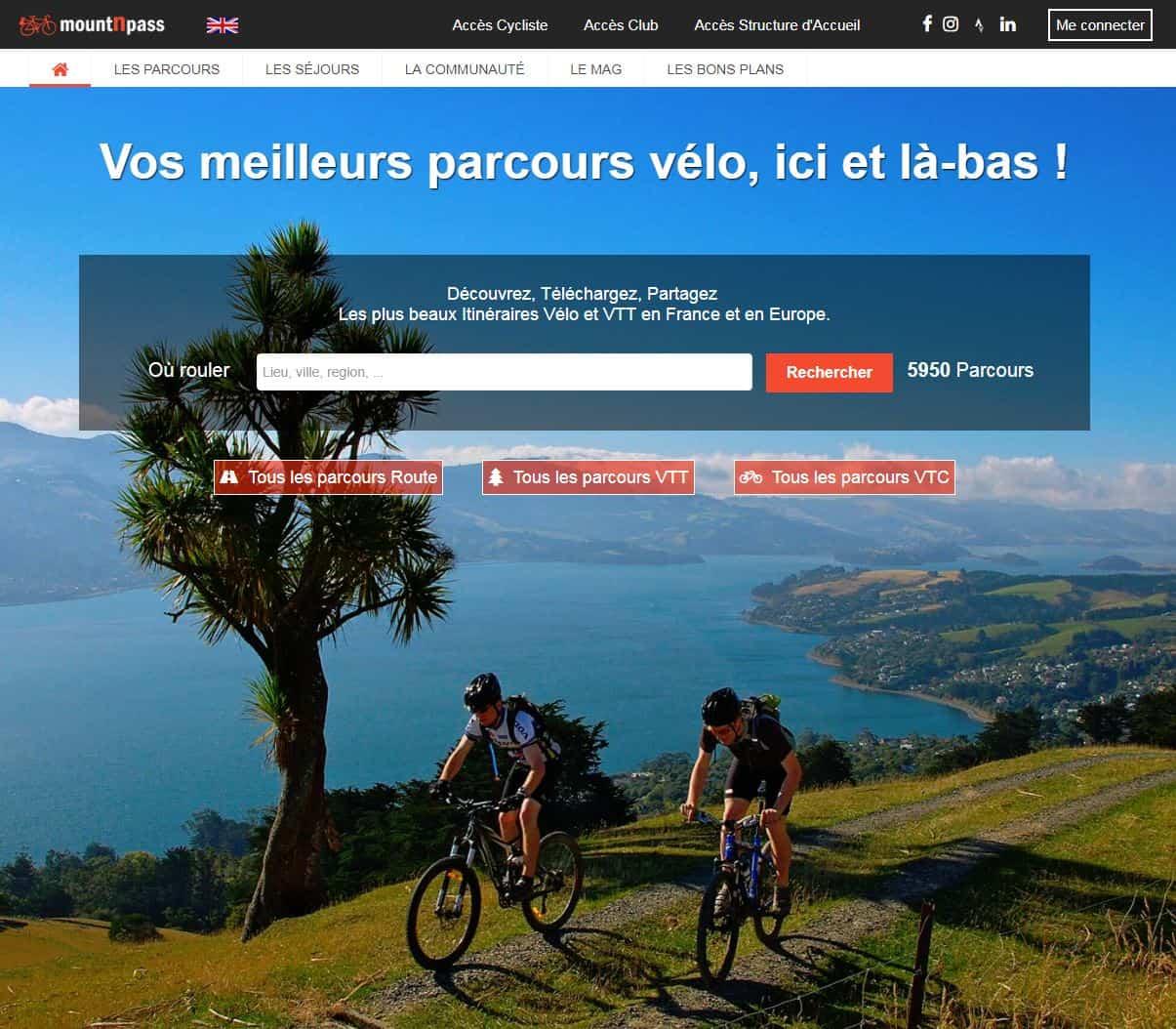 mountnpass web communautaire tourisme velo