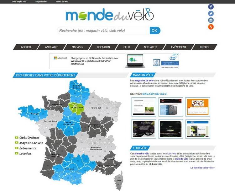 Développeur Web mondeduvélo.com